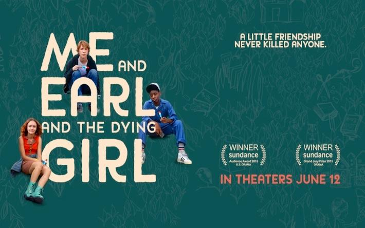 Movie Poster for Me, Earl, and the Dying Girl.