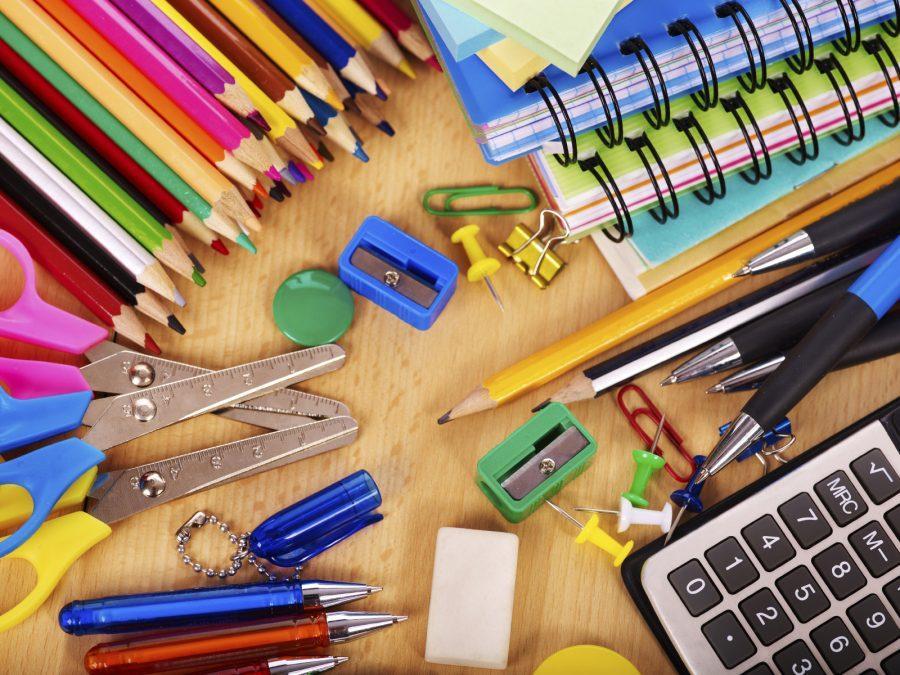 School++office+supplies+on+board.