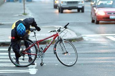 Drivers, Bikers Take Precaution