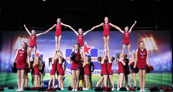 Girls Bring Cheer at UIL Spirit State Championship