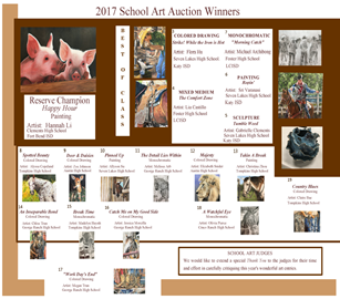 Fort Bend County Fair Art Auction Winners