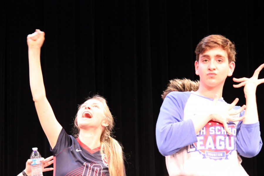 Student Athletes Wow Crowd with First Time Improv