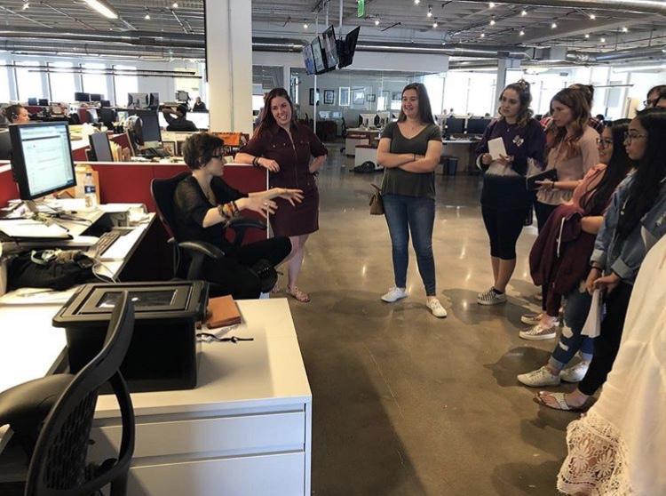 Journalism+Students+Meet+Professional+Journalists%3A+Field+Trip+to+Houston+Chronicle