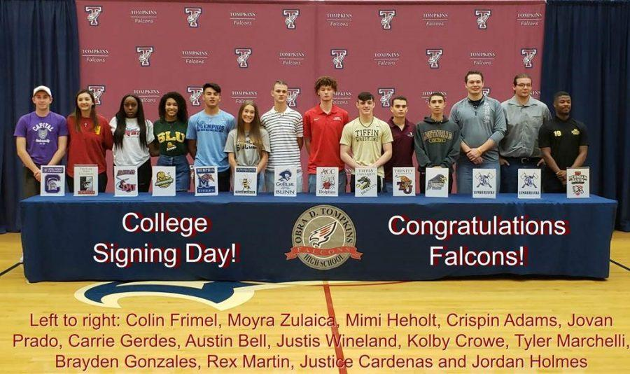 Tompkins Athletes Take Part in National Signing Day