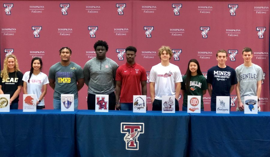 Falcons Sign with their College