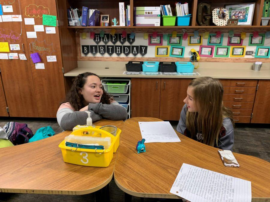 Journalism Students Help Out at Jenks Elementary
